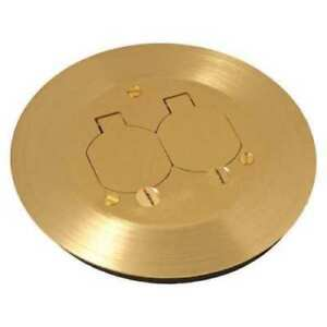 "NEW Floor Box Cover, Round, 2-1/4"" L, Brass RACO RAC5500 KIT - NEW IN BOX"