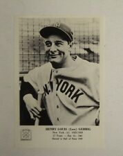 1963 Lou Gehrig Yankees 5x7 Hall of Fame Picture Photo - 1 day FLASH SALE