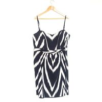 City Chic Womens Plus Size Large Black & White Strapless A-Line Dress