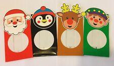 4 x Christmas sweet treat chocolate bags 14.5 x 8.5cm Santa elf penguin reindeer
