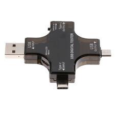 USB C USB Voltage Current Detector Mobile Power Charger Digital Tester Meter