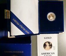 1989 $5 American Gold Eagle, Superb Gem+ Proof, Original Box & C.O.A.