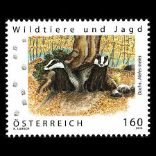 "Austria 2016 - Wild Animals and Hunting ""Badger"" Fauna Nature - Sc 2639 MNH"