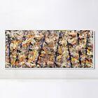 "Framed Canvas Art Blue poles (Number 11) by Jackson Pollock Wall Art 20""x44"""