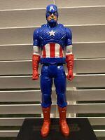 "2014 Hasbro Marvel Titan Hero Series Captain America 12"" Figure No Shield Loose"