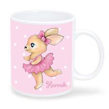Kinder Tasse Hase WUNSCHNAMEN KT429 personalisiert Kunststoff Becher Mädchen