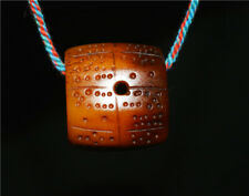 TIBETAN OLD ANTIQUE KAPALA NECKLACE PENDANT DICE AMULET TALISMAN RITUAL TIBET