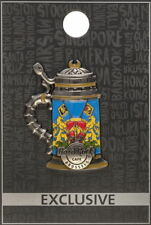 Hard Rock Cafe BRUSSELS 2017 3-D Flag & Coat of Arms BEER STEIN PIN - HRC #96246