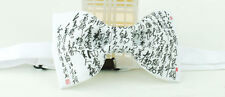 CHINESE CALLIGRAPHY Fabric BOW TIE Nice Gift Party Use Casual Use Daily Easy Use