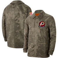 Washington Redskins Football Jacket Salute to Service Sideline Coat Breasted Top