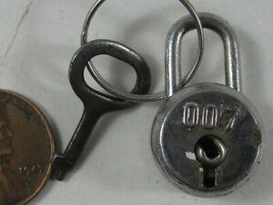 """Vintage Miniature Lock 007 James Bond 1"""" #2"""