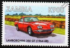 1964-1968 LAMBORGHINI 350 GT Classic Sports Car Stamp
