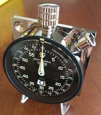 Vintage HEUER MONTE CARLO Rally Stopwatch Timer with Original HEUER Yellow Box