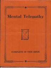 MENTAL TELEPATHY - Likely A Nelmar Publication