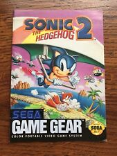 Sonic the Hedgehog 2 Ii Sega Game Gear Instruction Manual Only