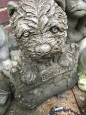 welcome Dog concrete stone garden ornaments detailed