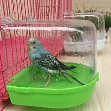 Clean Parrot Bird Bathtub Box Bird Bath Shower Standing Wash Box Cage New