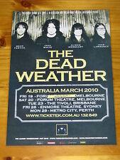 THE DEAD WEATHER - JACK WHITE 2010 Australian Tour - Laminated Promo Poster