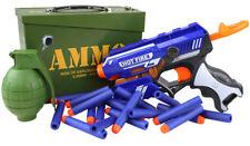 Kombat Kids Army Blaze Storm Play Set Ammo Tin Pistol Toy Gun Blaster Soldier