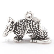 Armadillo Charm Texas State Pendant Sterling Silver 925 .925 He's Detailed 3D