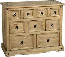 Corona 4+3+2 Drawer Merchant Chest in Distressed Waxed Pine - Free Delivery