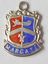 Margate vintage silver shield enamel travel charm