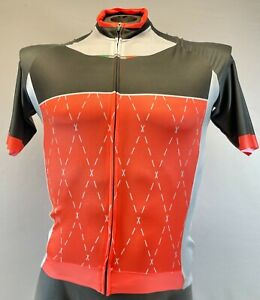 GSG Men's Short Sleeve Cycling Jersey - Size M in Orange/Black - Made in Italy