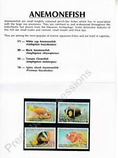Papua New Guinea MNH 1987 STAMP PRESENTATION PACK ANEMONE FISH SG 539-542