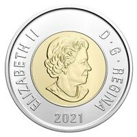 🇨🇦 2021 Canada $2 Dollars Coin Toonie, Polar Bear, Bi-Metallic, Mint UNC, 2021