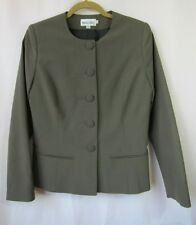 Bragard Womens 38 6 Brown Chef Server Blazer Jacket Coat Uniform Made in France