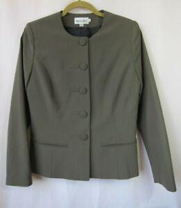 Bragard Womens 38 6 Brown Chef Server Blazer Jacket Coat Uniform Made in France