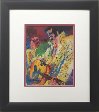 "LeRoy Neiman ""ELVIS"" Newly CUSTOM FRAMED Art Print THE KING Presley ROCK n' ROLL"