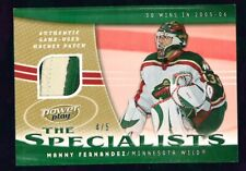 2006-07 Upper Deck Power Play Specialists Patches #PMF Manny Fernandez 4/5