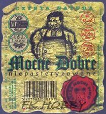 Poland Brewery Lwówek Śląski Mocne Dobre Beer Label Bieretikett Cerveza ls134.8