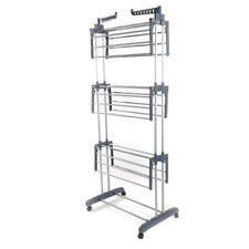 3-Tier Clothes Drying Rack Folding Laundry Dryer Hanger Organizer Stand Gray