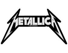 OFFICIAL LICENSED - METALLICA - SHAPED LOGO SEW / IRON ON PATCH METAL NEW