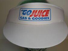 Vtg 1990 GO JUICE GAS & GOODIES Convenience Store Station Advertising VISOR HAT