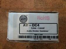 RDL AV-DC4 Line-Level Audio Divider/Combiner NEW IN OPEN BOX
