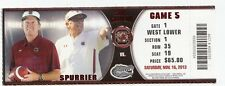 2013 SOUTH CAROLINA GAMECOCKS VS FLORIDA GATORS TICKET STUB 11/16 STEVE SPURRIER