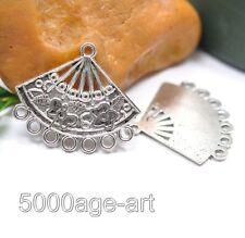 40pcs Tibetan silver charm fan earrings Connectors 28mm fit jewelry A2012