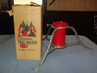 VINTAGE CHRISTMAS TREE HOLDER METAL STAND