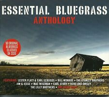 ESSENTIAL BLUEGRASS ANTHOLOGY - 2 CD BOX SET - BILL MONROE & MORE