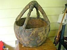 Large Antique Primitive Rustic Native Woven Basket