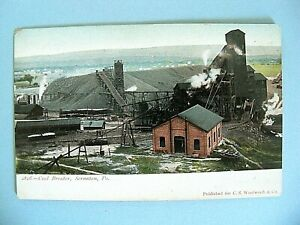 Vintage Coal Breaker Scranton, PA. Unposted Undivided Back Clear Great Color