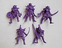Set of 5 Viking Plastic Toy Soldier 54mm 1/32 scale Tehnolog Fantasy Battles