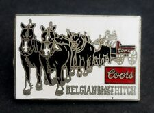 1980's Rare Coors Beer Belgian Draft Horse Hitch Team Trucker Hat Enameled Pin