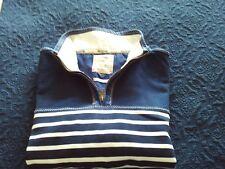Fat Face Mens 'Airlie' Zip Necked Sweatshirt. Navy & White Stripes. XXL. BNWOT