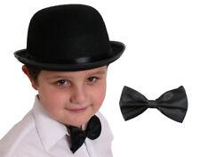BOMBIN sombrero Childs 55 Cm Y Negro Corbata De Moño Vestido elegante traje de Disfraz Victoriano