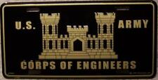 Aluminum Military License Plate Army Corps of Engineers NEW black