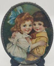 Antique German Chimney Flue Cover The Waltz Hugging Children